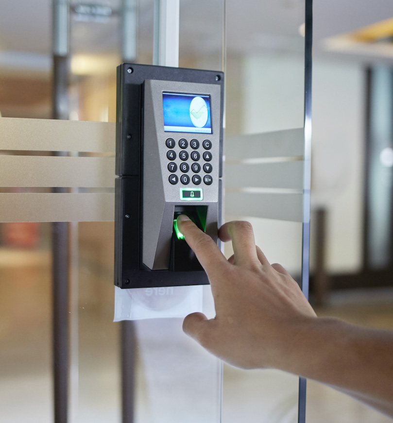 Access control system security code enabled