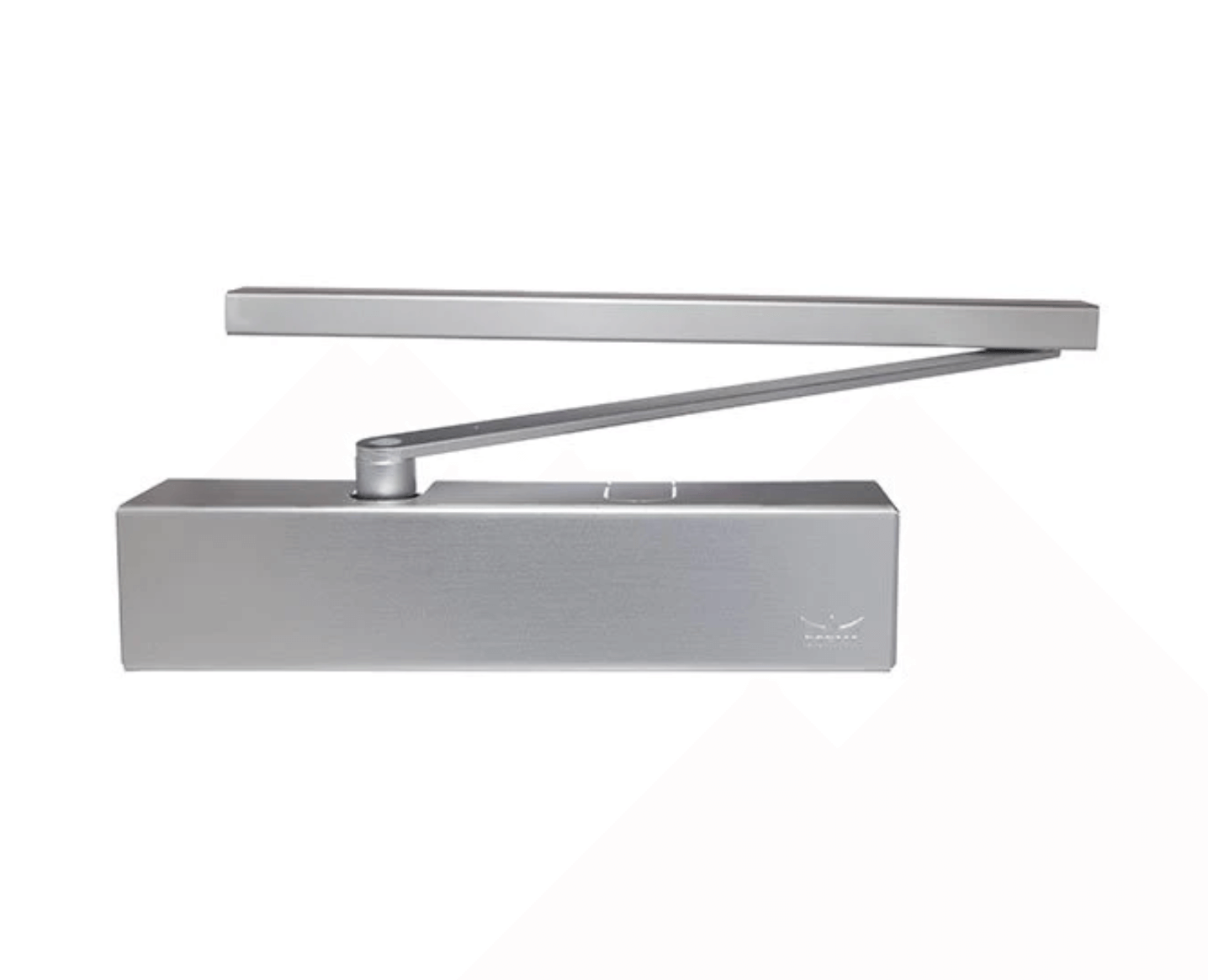 Dorma TS93 Slide Arm Door Closer with Adjustable Power and Back Check for Pull Side.