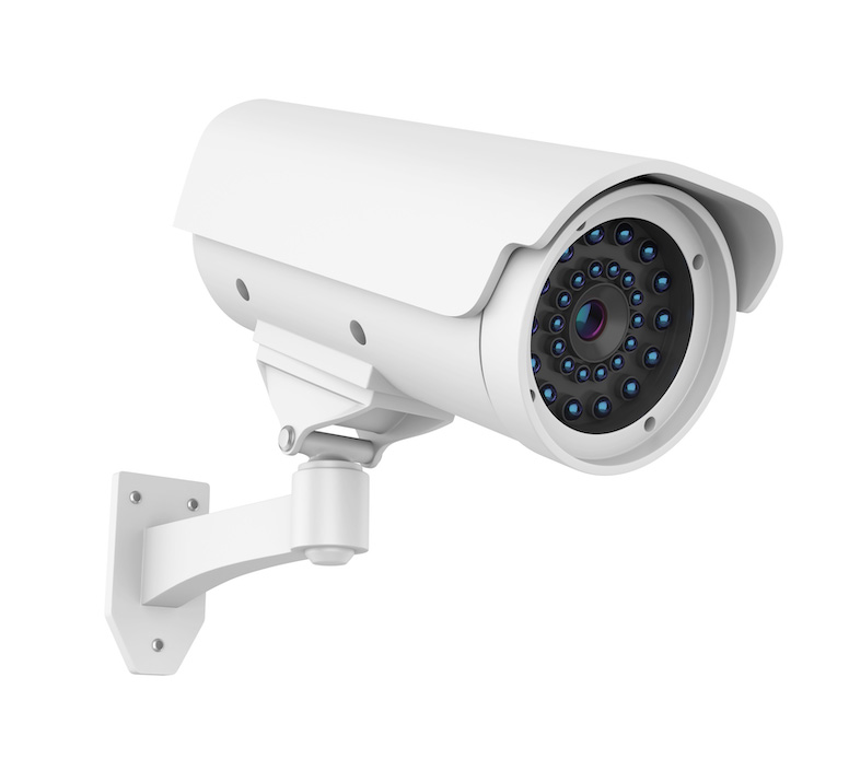 A home digital surveillance camera for security purposes.