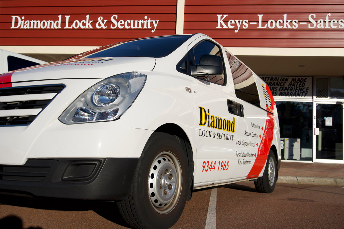 The fully kitted out diamond lock and security emergency locksmith van cleaned and ready for service.
