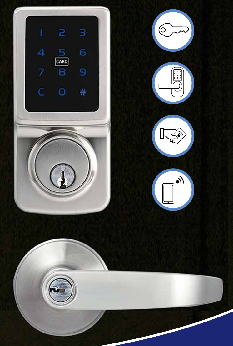 A versatile electronic touch leaver set helping level up your security around the home.