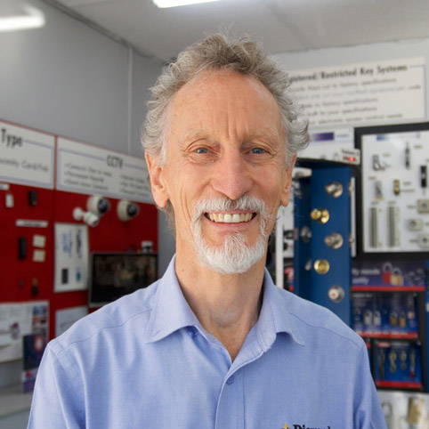 A close-up profile image of Rod who is the owner of Diamond Lock and Security.