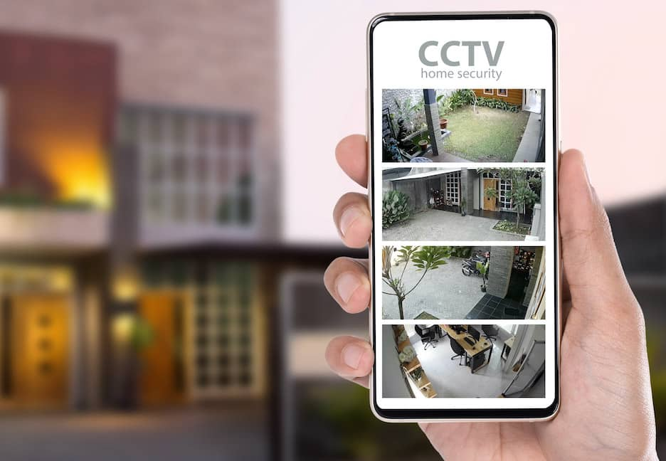 A fully installed CCTV System in a local home.