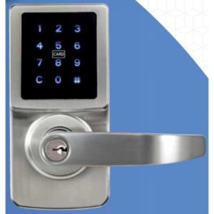 A touch leaver digital lock by carbine with many features.
