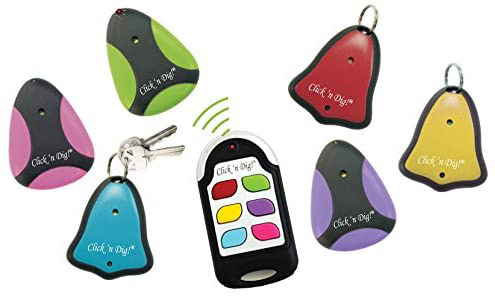 Click 'n Dig key finder devices for car and house keys.