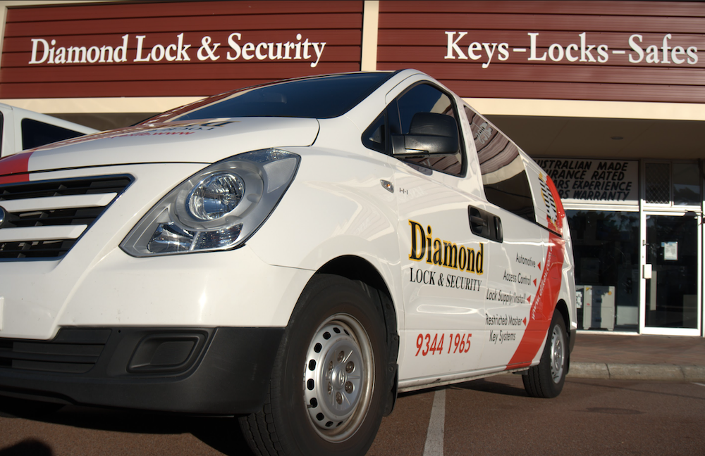 A locksmith van fully equipped and ready to service the Perth area.