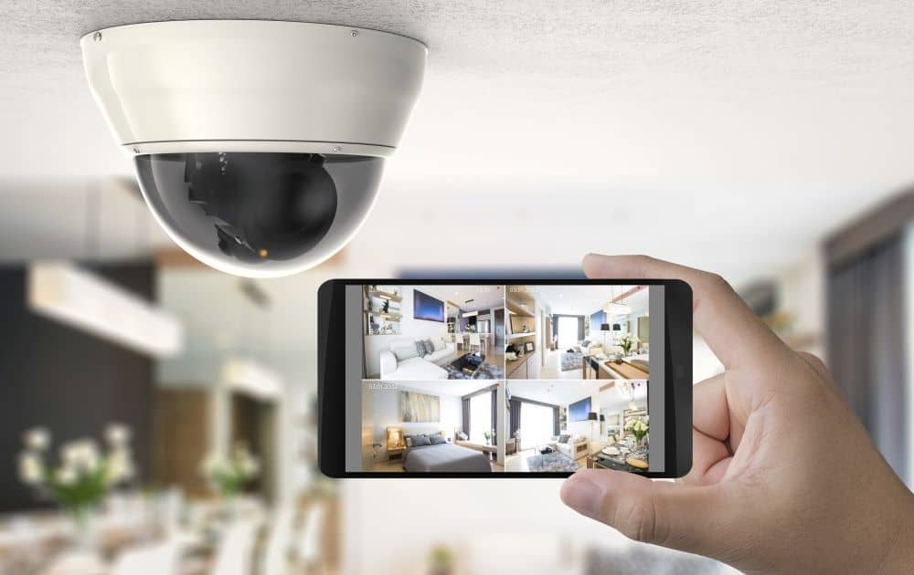 Smart phone connected to cctv.